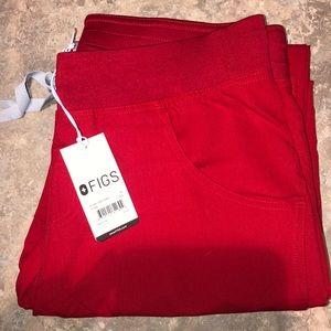 FIGS red scrub pants
